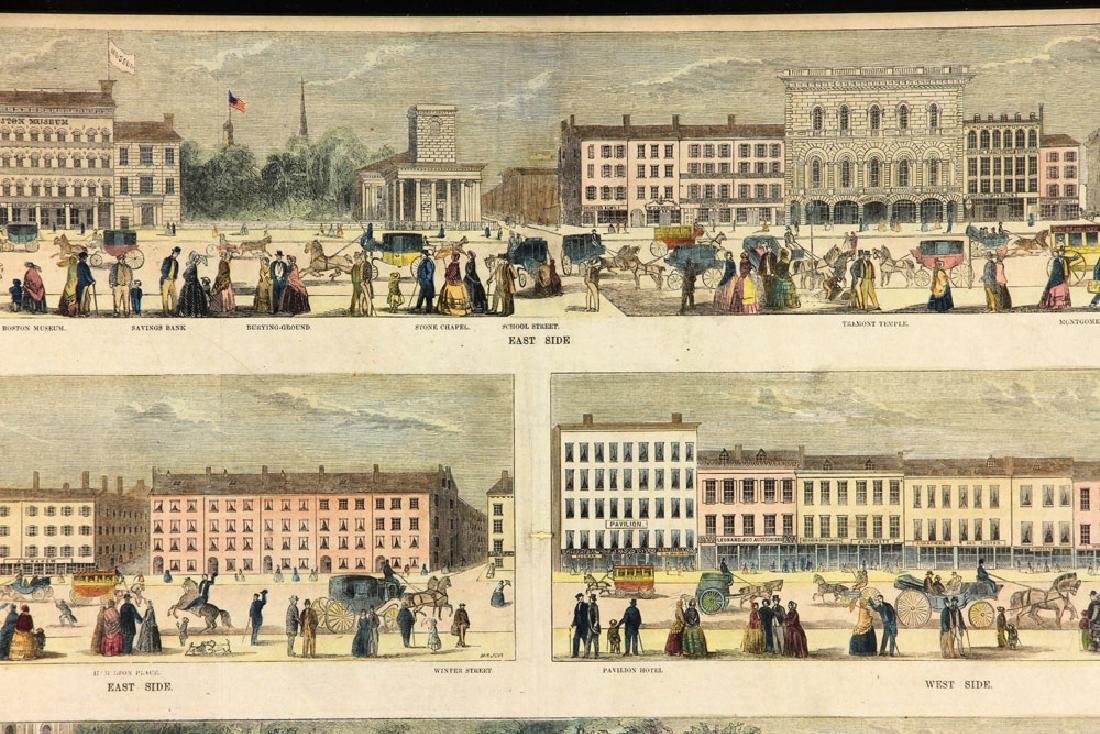 Panoramic View of Tremont St. Boston, Engraving - 3