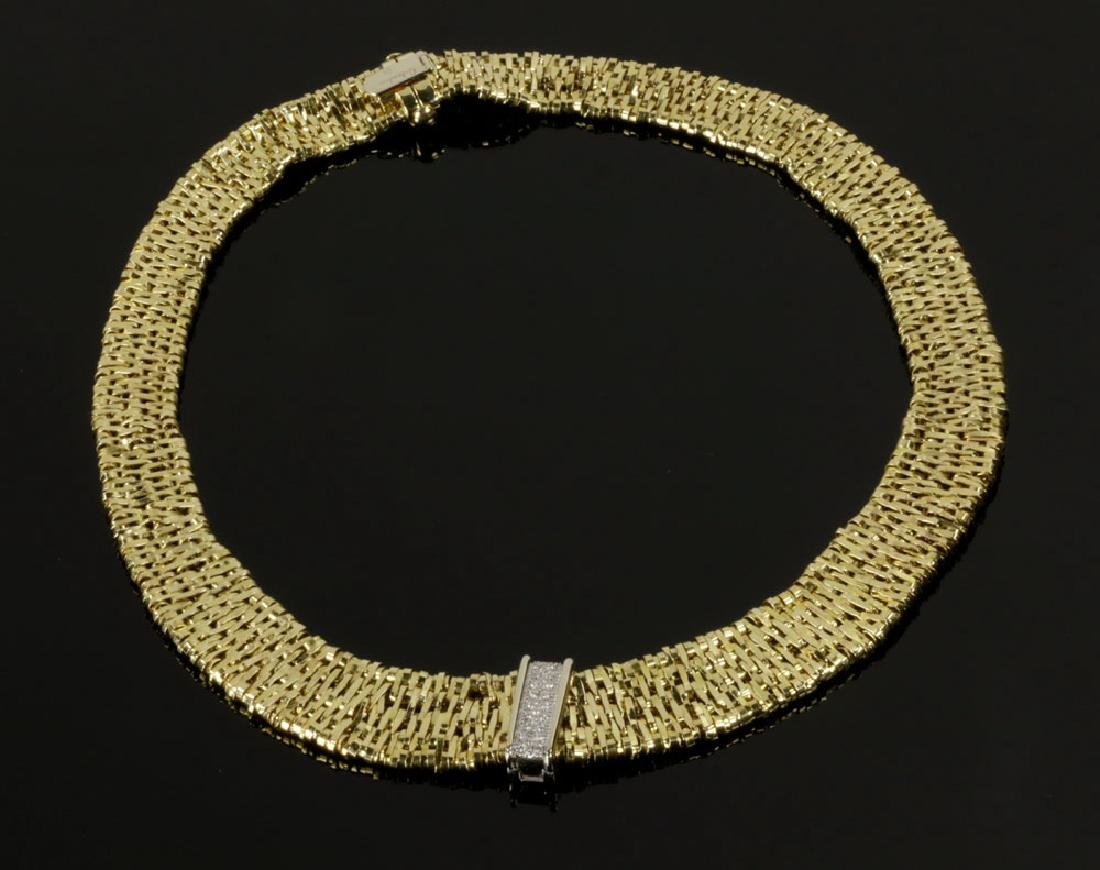 Ladies' 18K Yellow Gold Mess Link Necklace