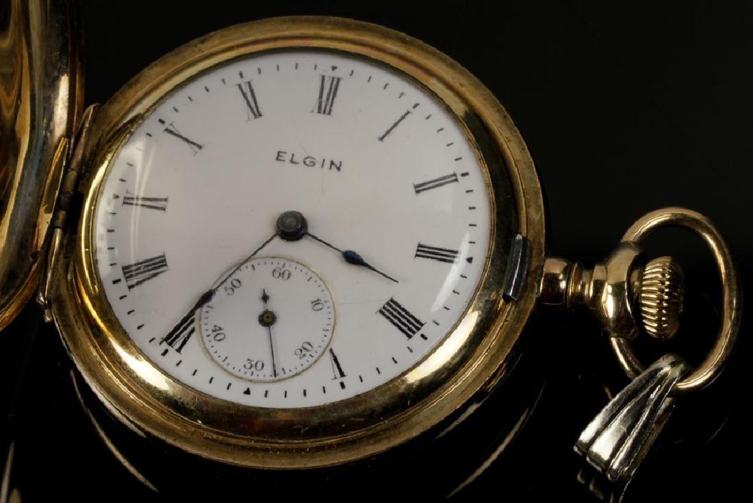 Elgin Gold Filled Pocket Watch - 4
