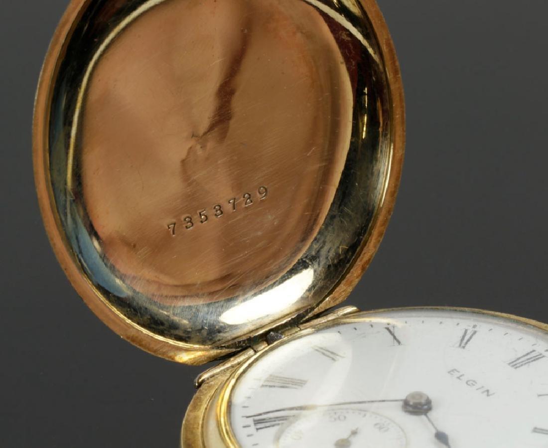 Elgin Gold Filled Pocket Watch - 5