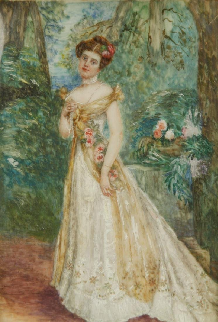 Chandler, Portrait of a Lady, Miniature on Ivory - 3