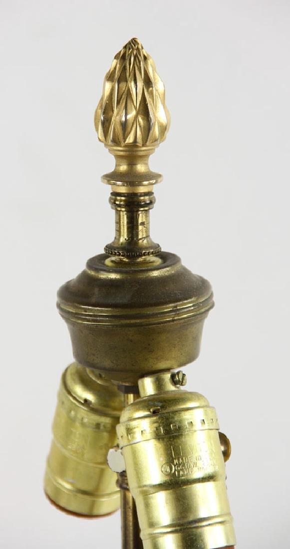 Pr. 19th C. French Bronze Dore Lamps - 3