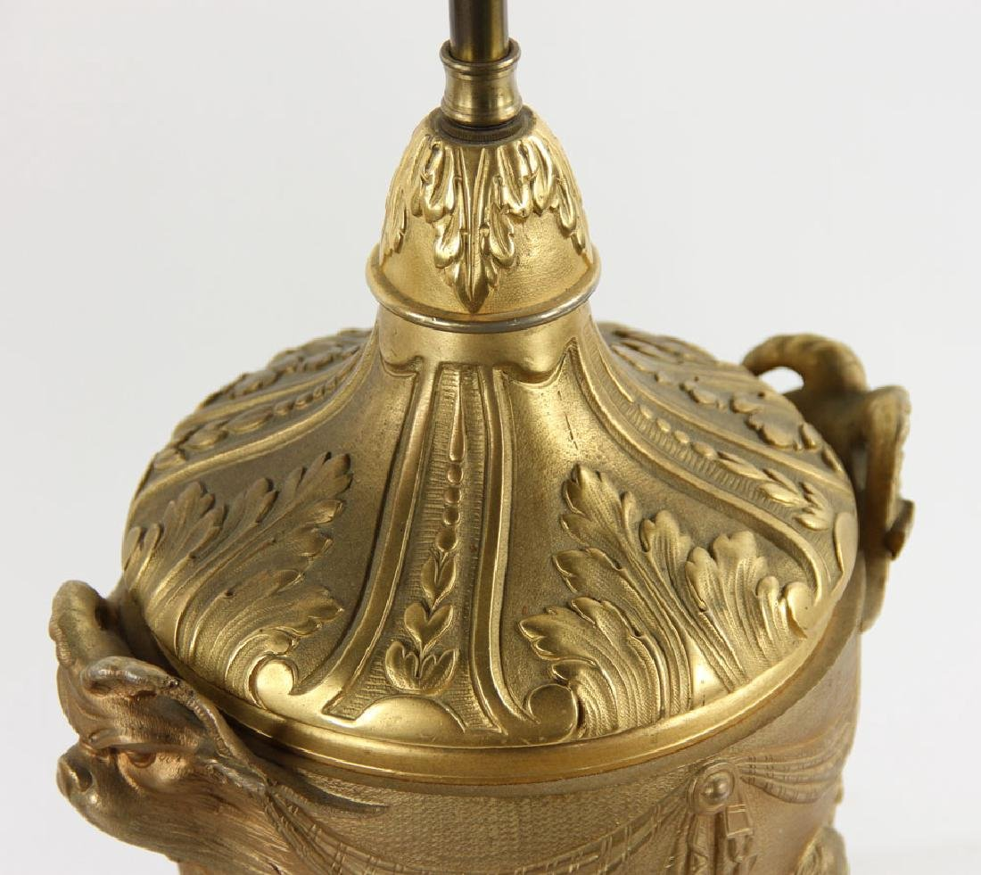 Pr. 19th C. French Bronze Dore Lamps - 4