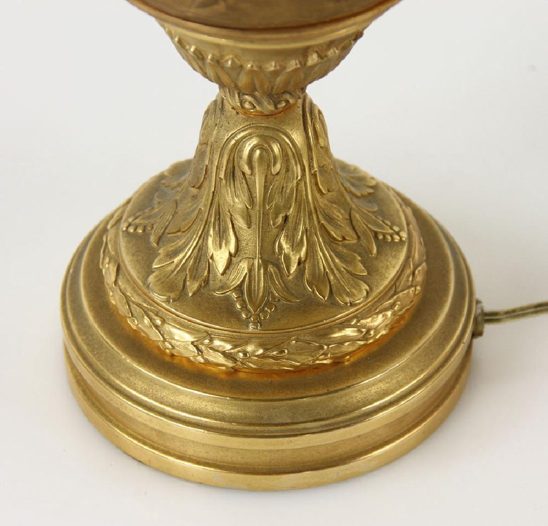 Pr. 19th C. French Bronze Dore Lamps - 7