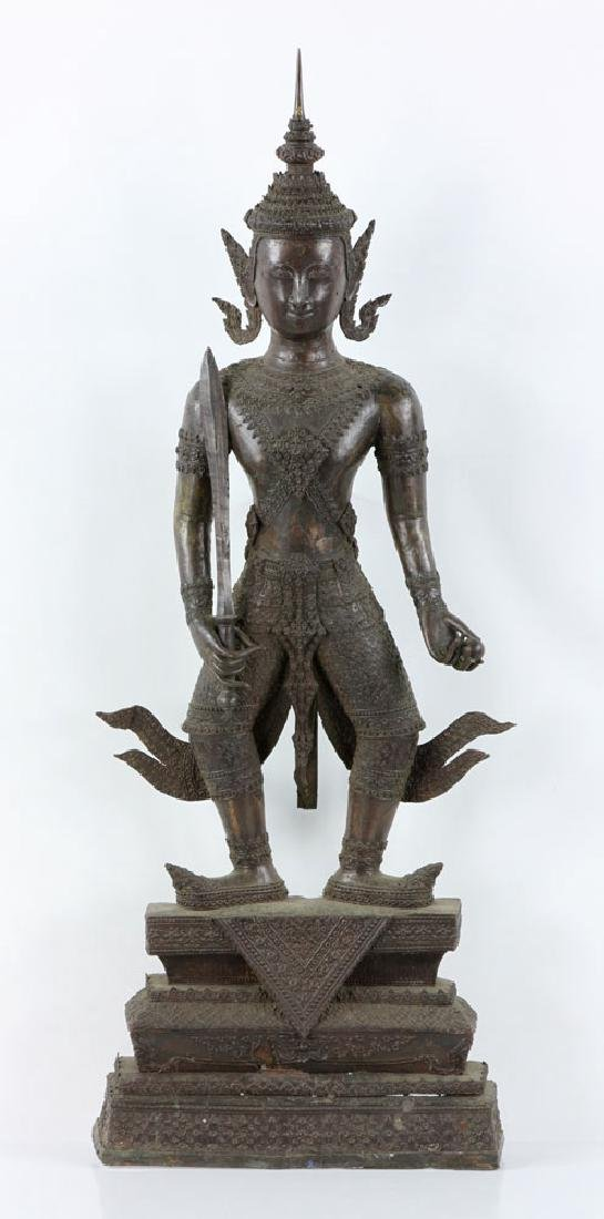 Thai Standing Guardian of Rattanakosin, Bronze
