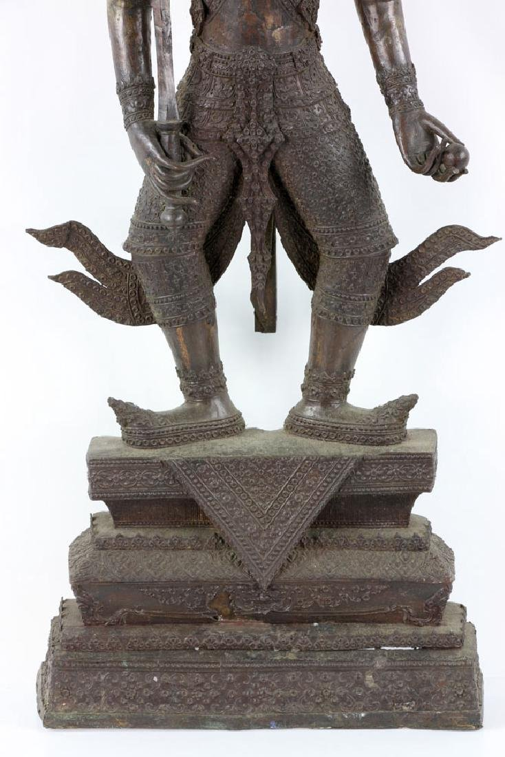 Thai Standing Guardian of Rattanakosin, Bronze - 3