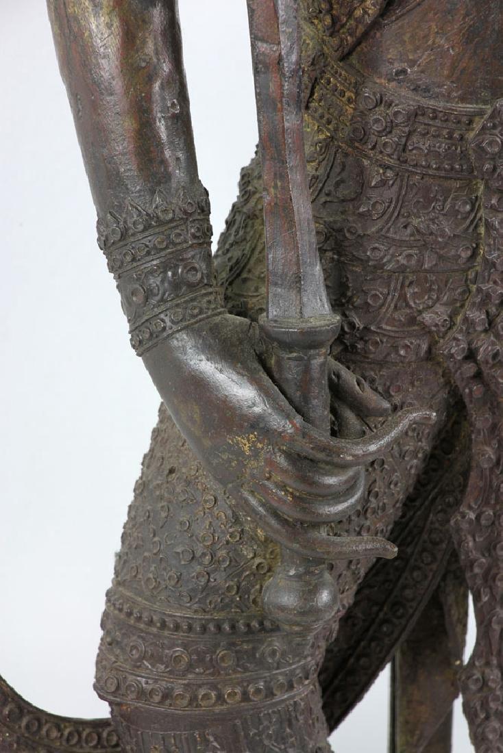 Thai Standing Guardian of Rattanakosin, Bronze - 5