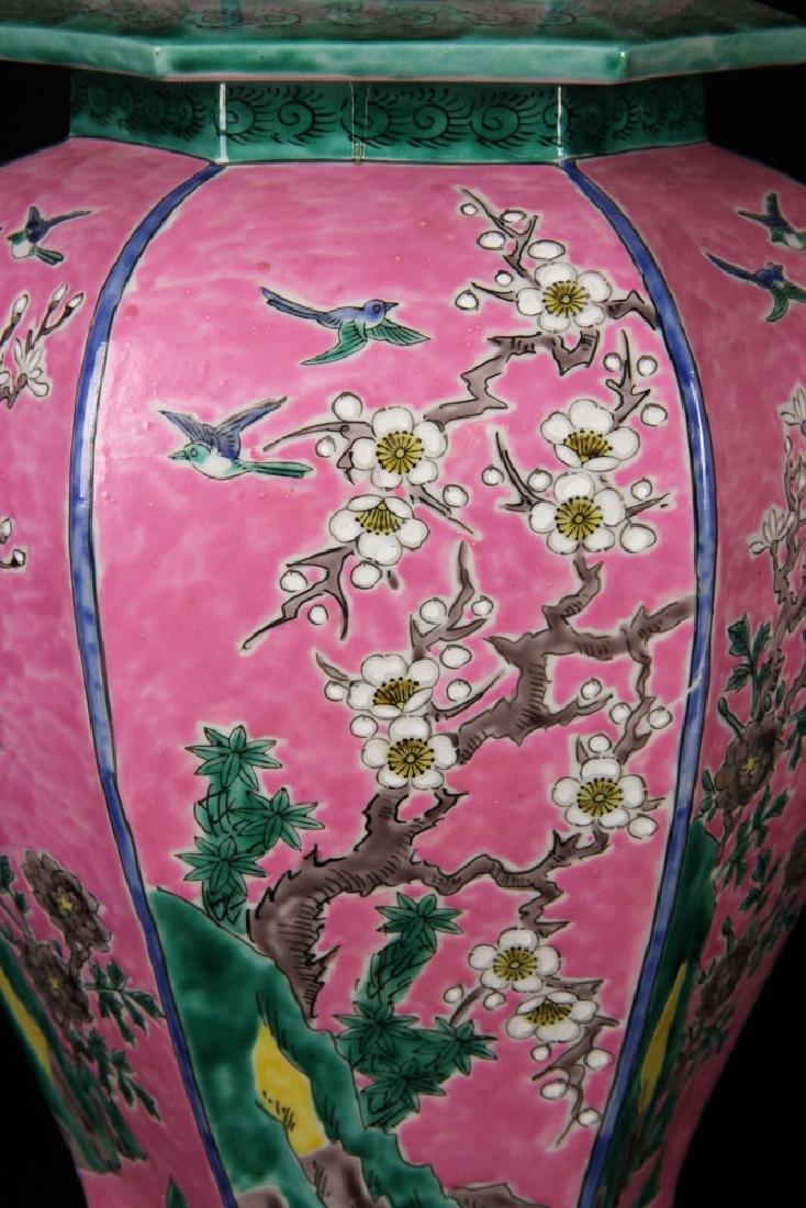 Pr. Famille Rose Porcelain Lamps - 2