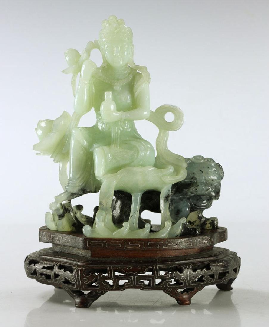 Carved Jade Seated Woman