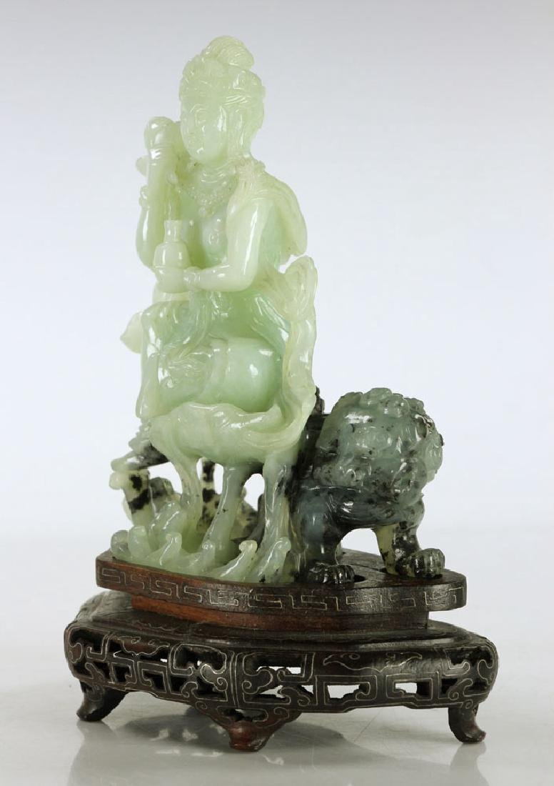 Carved Jade Seated Woman - 2
