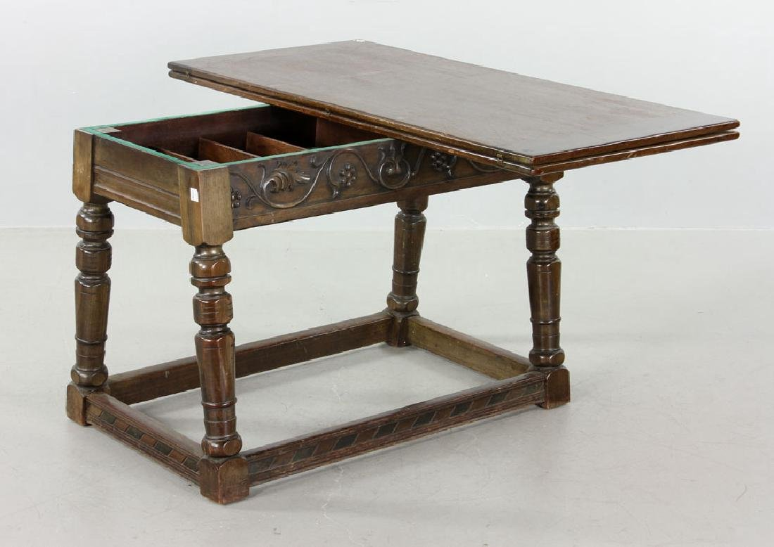Mahogany Swing Top Table - 2