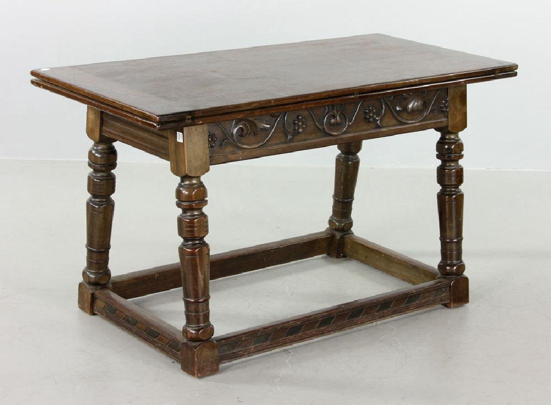 Mahogany Swing Top Table - 3