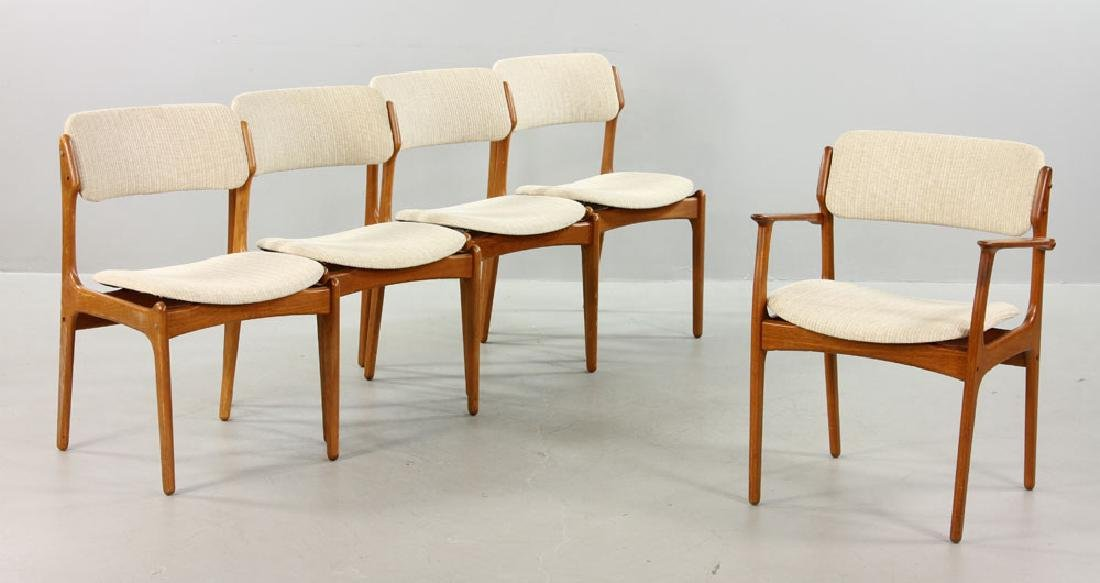 Five Erik Buck No. 49 Chairs for O.D. Mobler