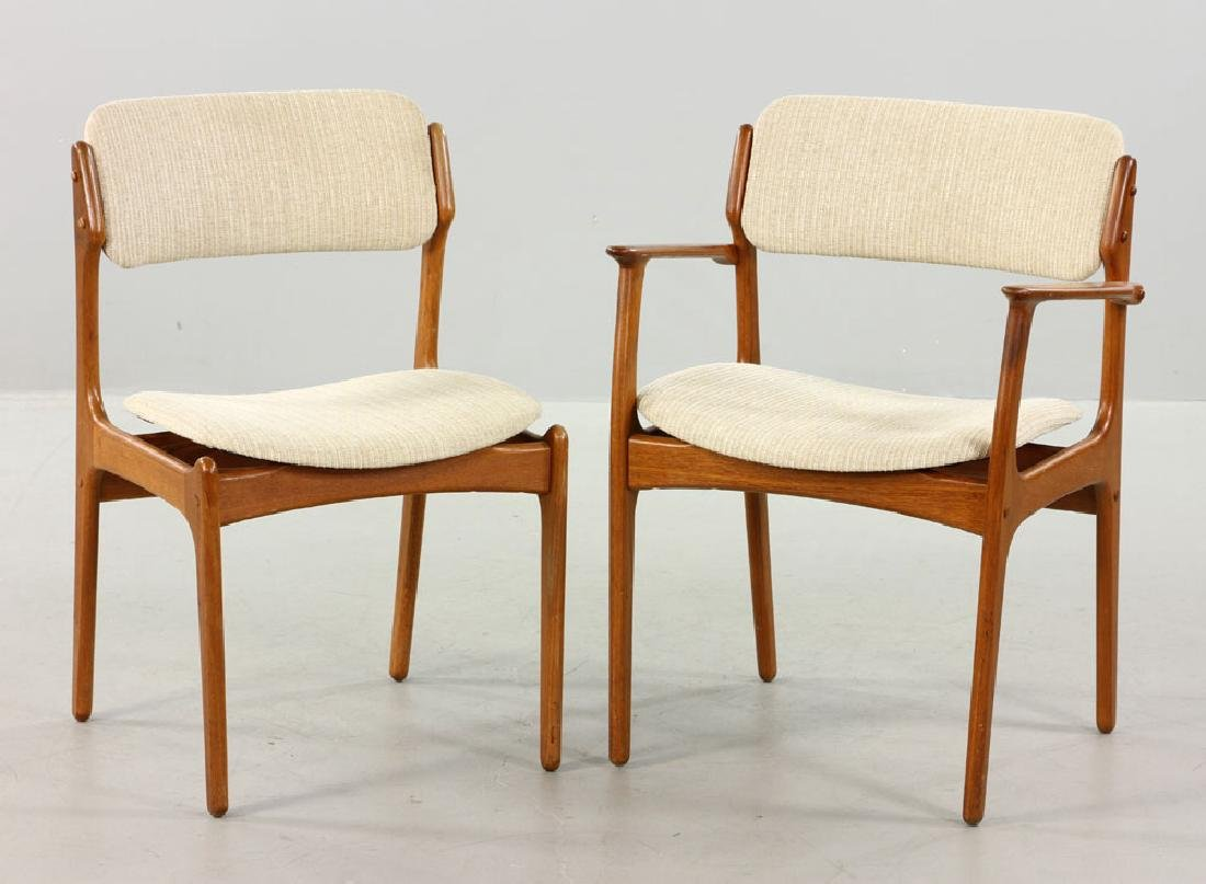 Five Erik Buck No. 49 Chairs for O.D. Mobler - 2