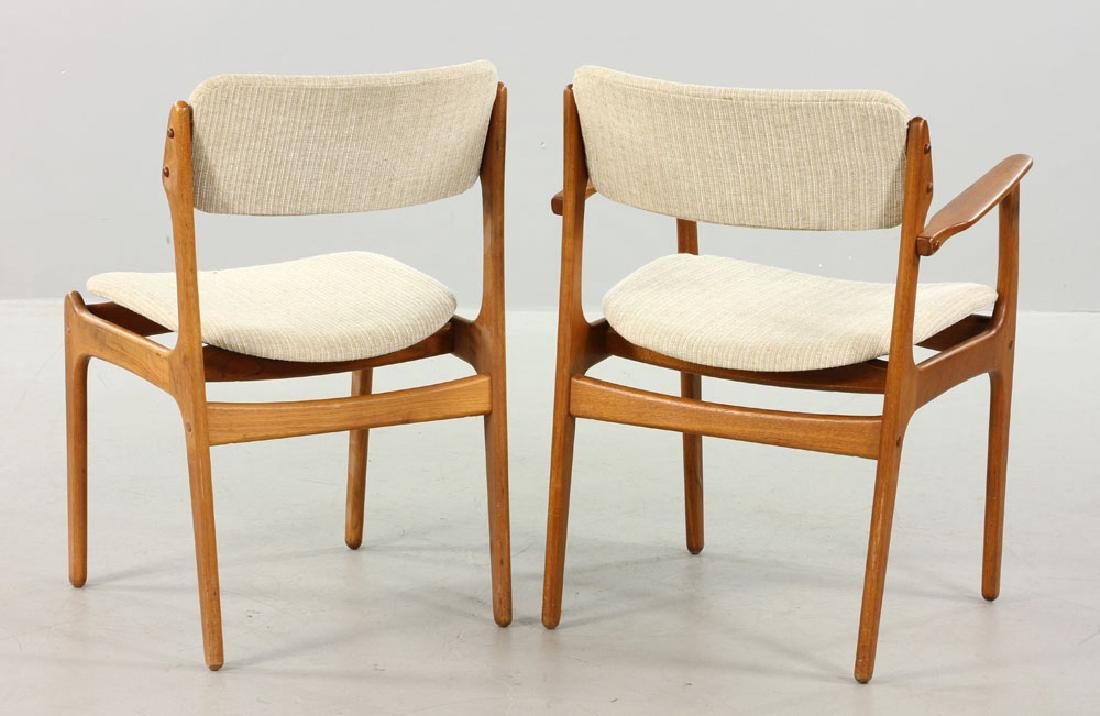 Five Erik Buck No. 49 Chairs for O.D. Mobler - 3
