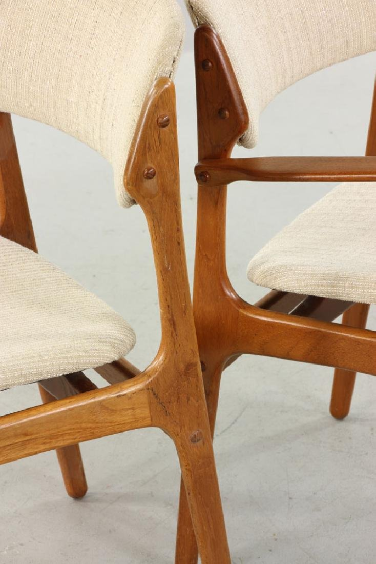 Five Erik Buck No. 49 Chairs for O.D. Mobler - 4