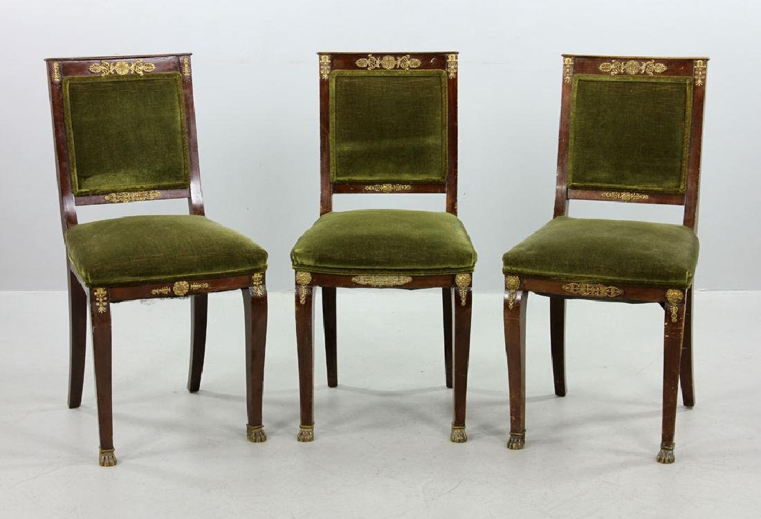 Three 19th C. French Empire Chairs