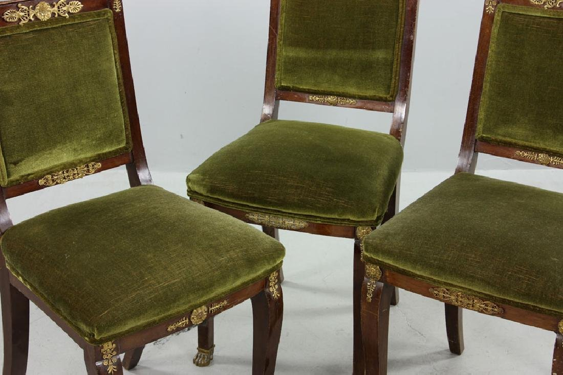 Three 19th C. French Empire Chairs - 3