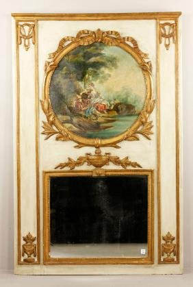 19th C. French Trumeau Mirror
