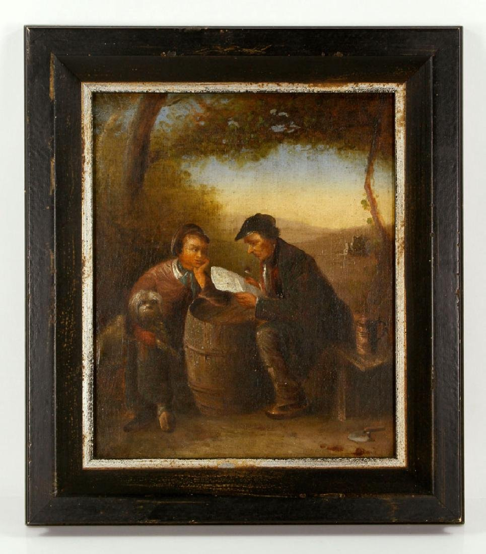 19th C. Continental School Painting, Oil