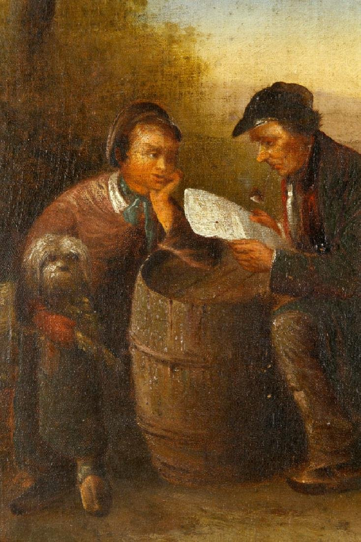 19th C. Continental School Painting, Oil - 3