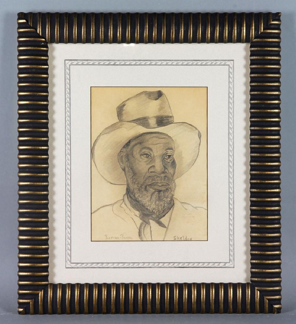 20th C. Haitian Drawing, Pencil