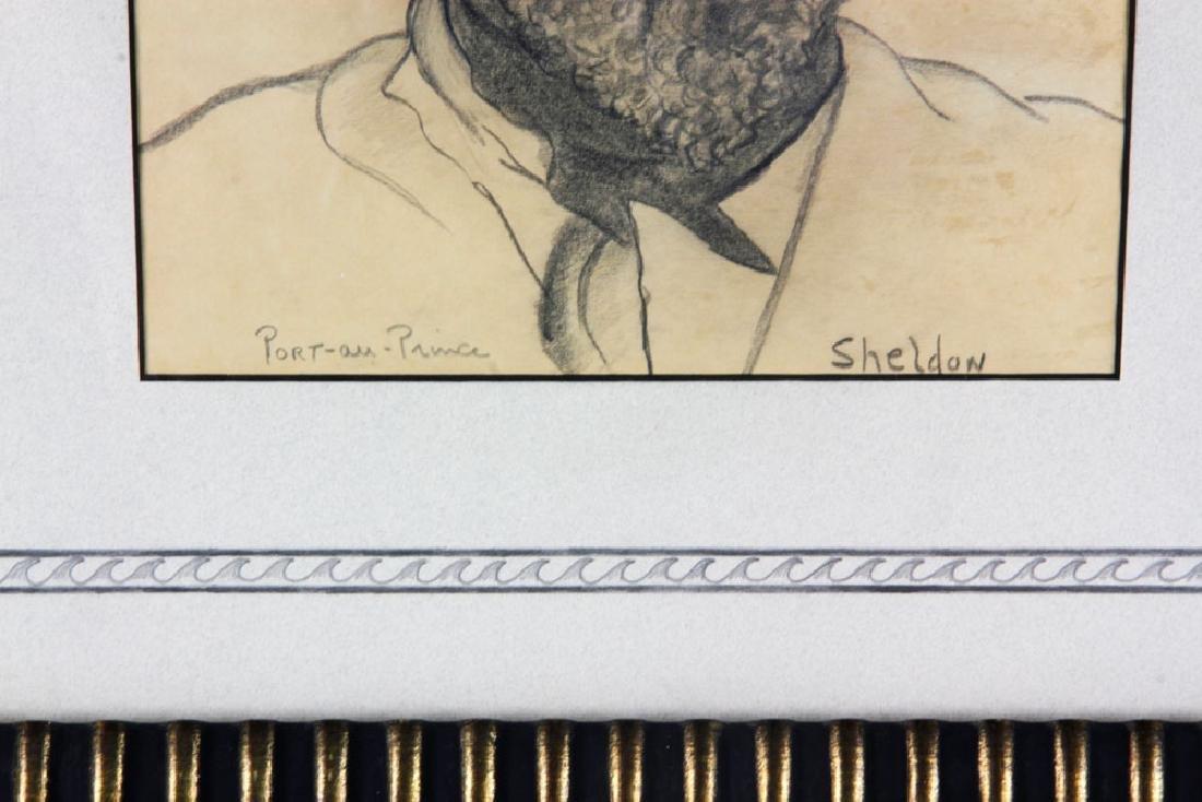 20th C. Haitian Drawing, Pencil - 3