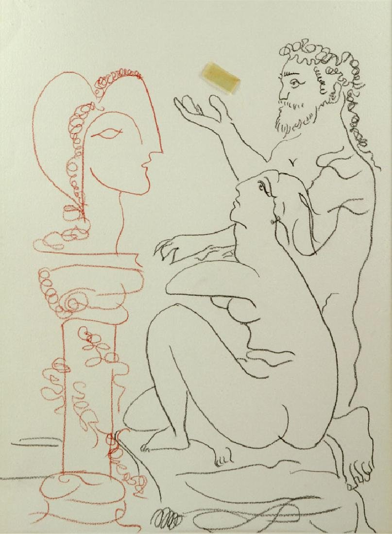 After Picasso, Line Drawing - 2