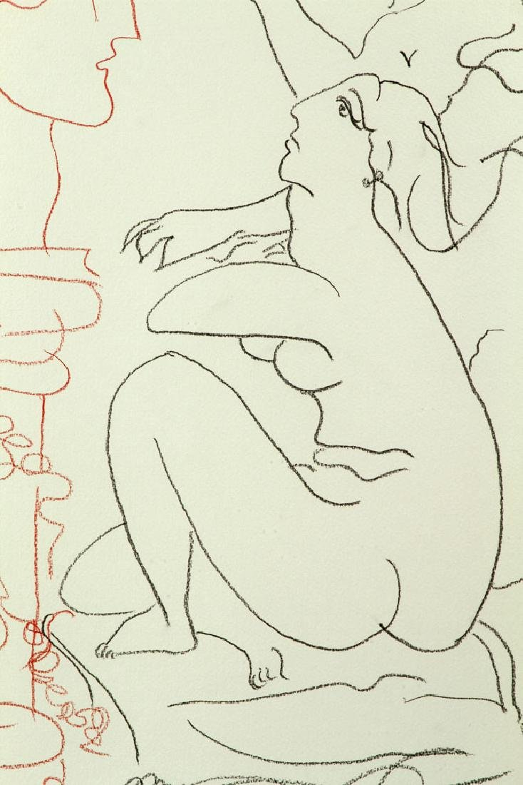 After Picasso, Line Drawing - 3