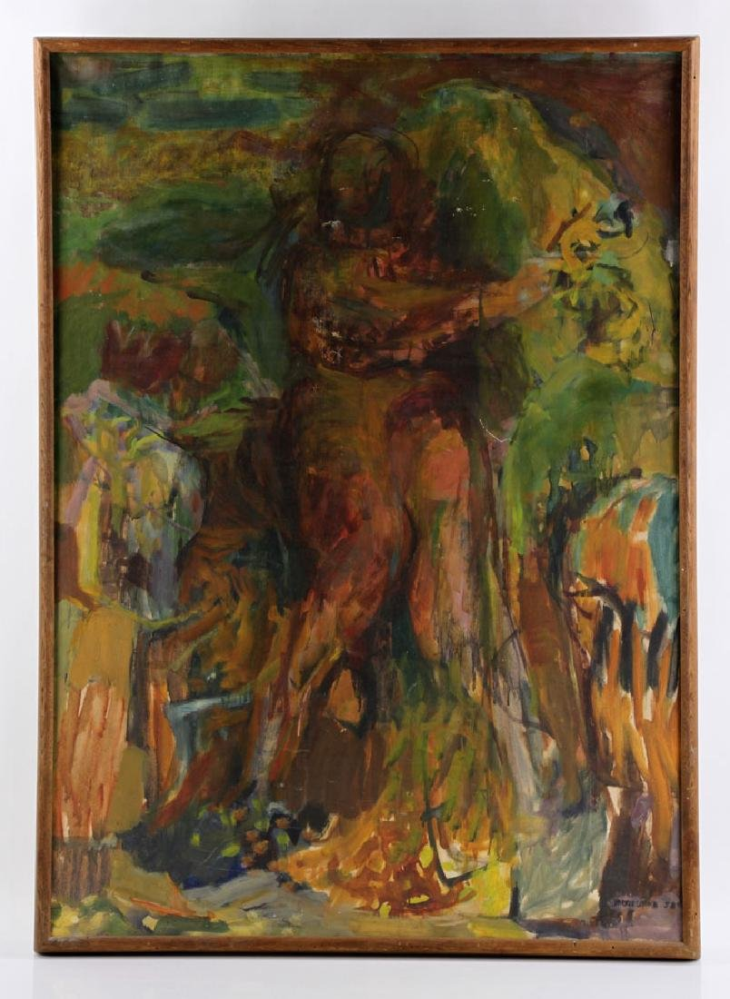 Cook, Abstract Nude, Oil on Canvas