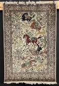 Pictorial Persian Tabriz Carpet