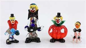 Murano Glass Figural Clown Grouping