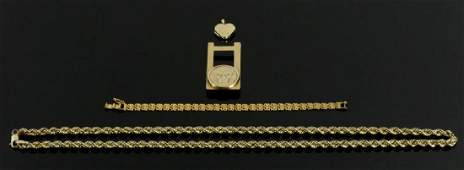 Lot of Assorted Gold Necklaces