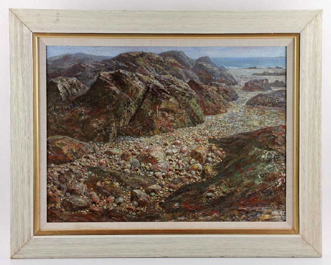 Shunchuan, Beach Scene, Oil on Canvas