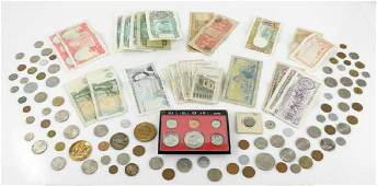 Assorted Lot of U.S. and Foreign Currency