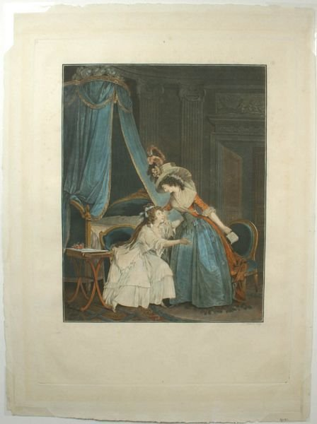 3003: FRANCOIS JANINET, THE LETTER, ENGRAVING, C.1810