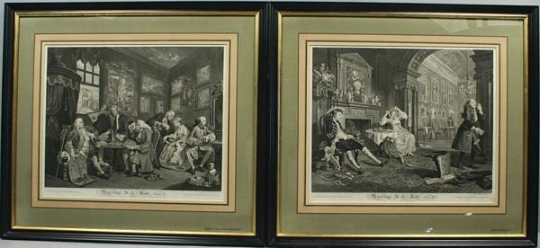 3004: HOGARTH'S MARRIAGE A LA MODE, ENGRAVING,1745