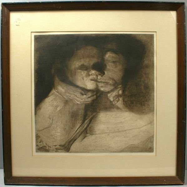 3007: KATHE KOLLWITZ, MOTHER AND CHILD, ENGRAVING