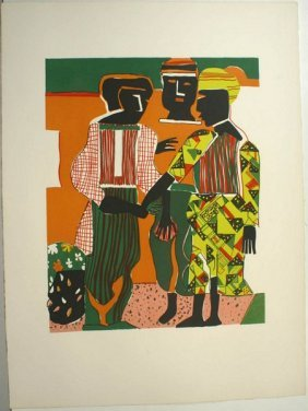 ROMARE BEARDEN, 'CONJUNCTION', 1979, LITHO