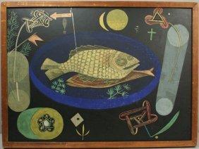 PAUL KLEE, STINKING FISH, SILKSCREEN