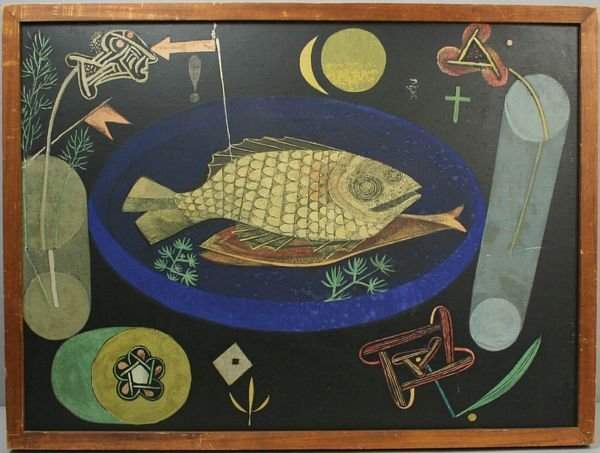 3024: PAUL KLEE, STINKING FISH, SILKSCREEN