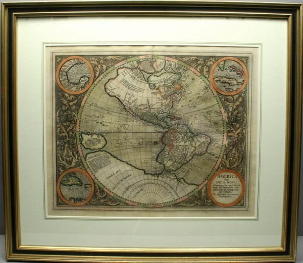 3046: MAP: AMERICA SIVE INDIA NOVA, ETCHING, C.1615