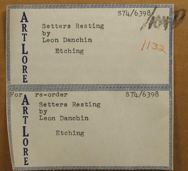 3054: LEON DANCHIN, SETTERS RESTING, 1938 - 5