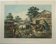 3167 CURRIER AND IVES AMERICAN FARMYARD 1857