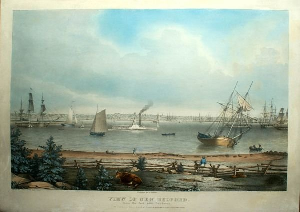3196: F.H. LANE, NEW BEDFORD, LITHOGRAPH, C. 1850