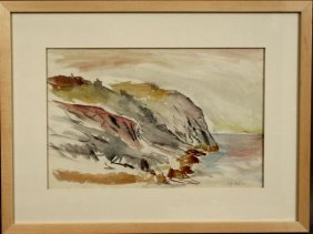 7: SGND A. BOGDANOVE, CLIFFS AT MONHEGAN, W/C