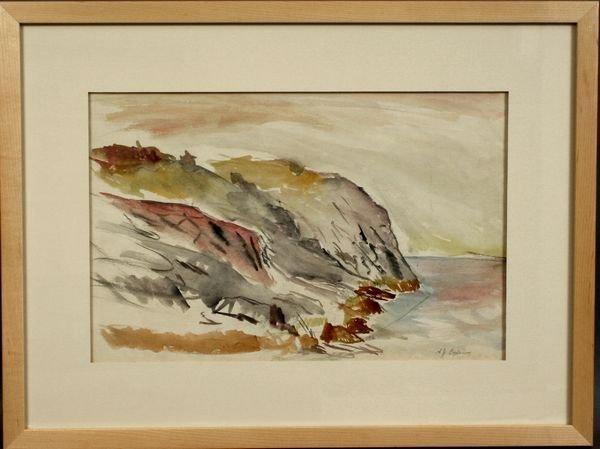 7: SGND A. BOGDANOVE, CLIFFS AT MONHEGAN, W/C
