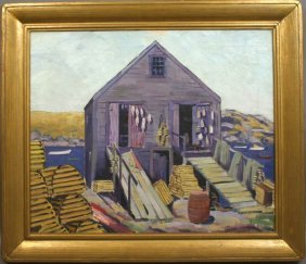 9: SGND MITCHELL HAGER MONHEGAN FISH HOUSE O/C