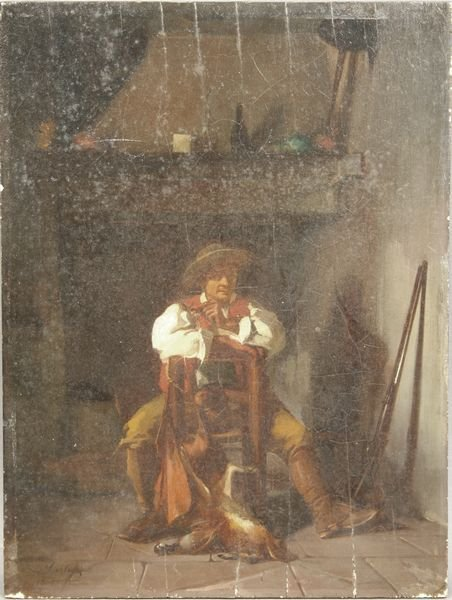 12: 19th C., 'AFTER THE HUNT', O/P, SIGNED B. MARTIN