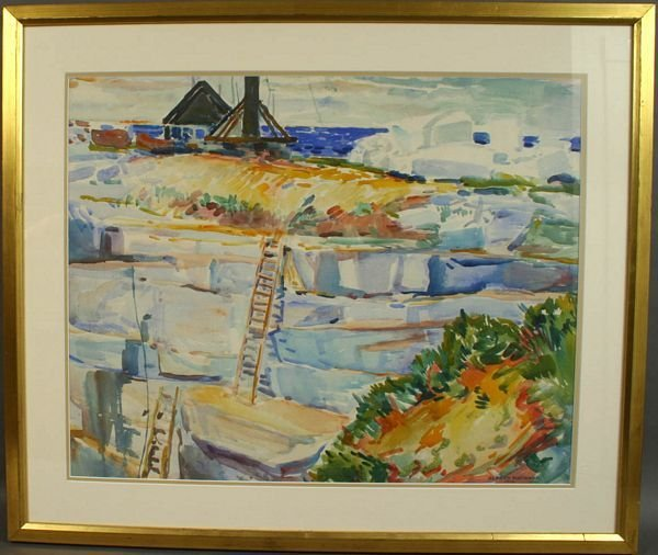 21: SIGNED ALFRED HAYWARD, THE QUARRY, W/C, 1920